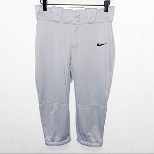 Nike Dri Fit Gray Capri Pants Elastic Waist